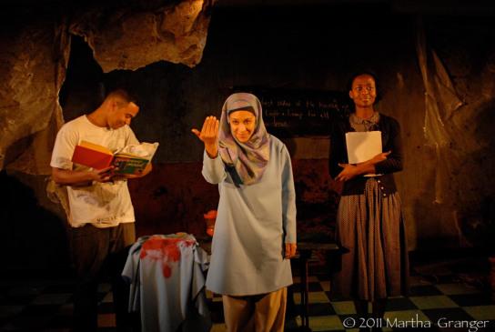 Stewart Villilo, Nikaury Rodriguez, Medina Senghore  (Photo: Martha Granger)