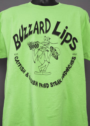 Buzzard Lips Green Shirt.jpg