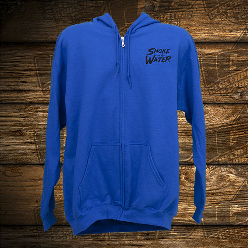 Smoke on the Water Blue Sweatshirt Zip.jpg