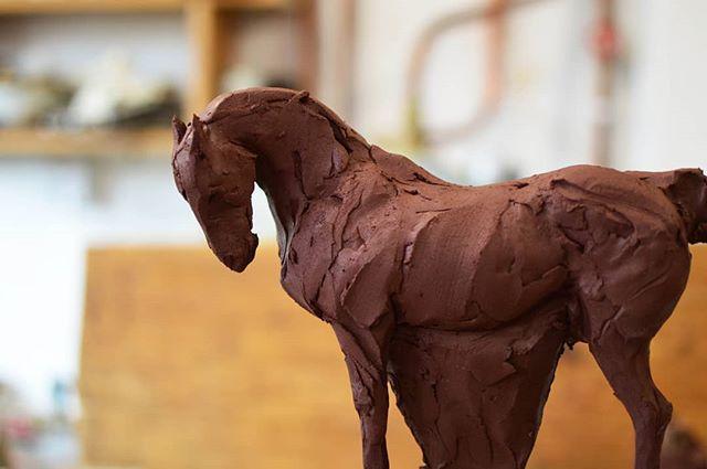 In progress.. . . #equineart #animalsculpture #ceramicsculpture #equestrian #equineartist #equestrianstyle #equestrianlife #equestrianart #horseart #ceramicart