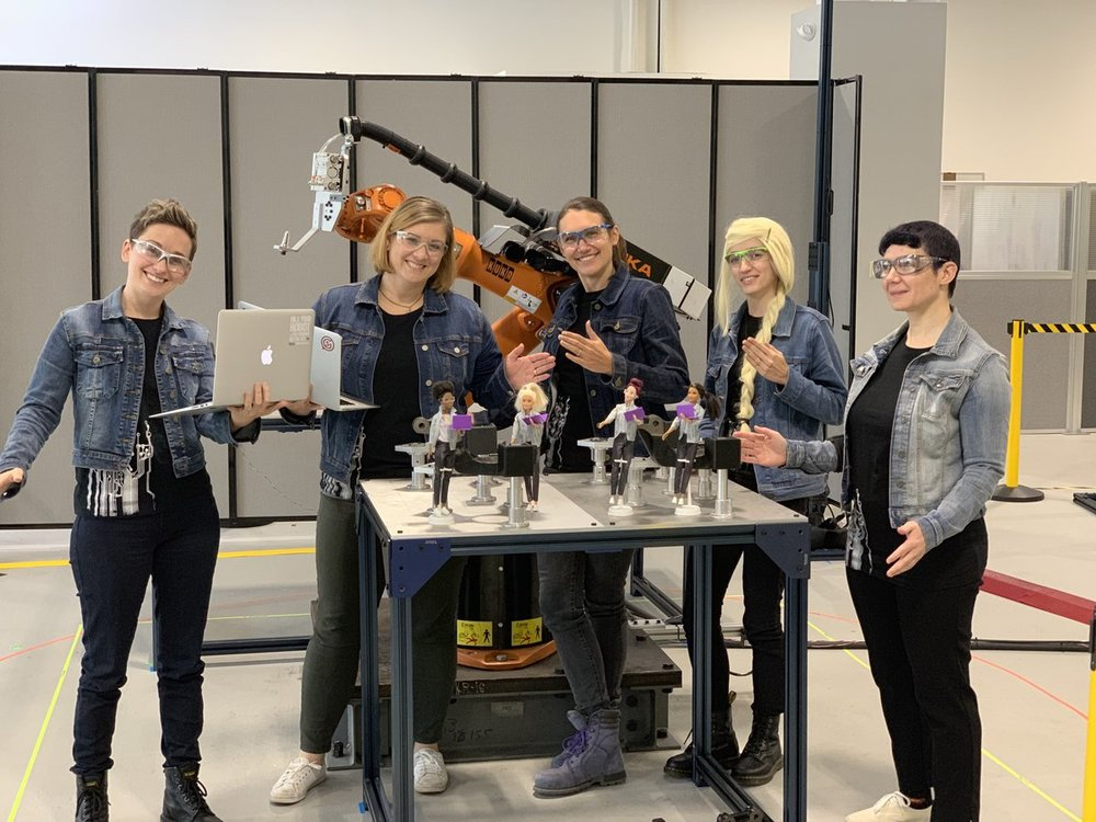 For Halloween 2018, some of us dressed as Robotics Engineer Barbie—a new product released that year. We were delighted to see representation of women like us in pop culture.