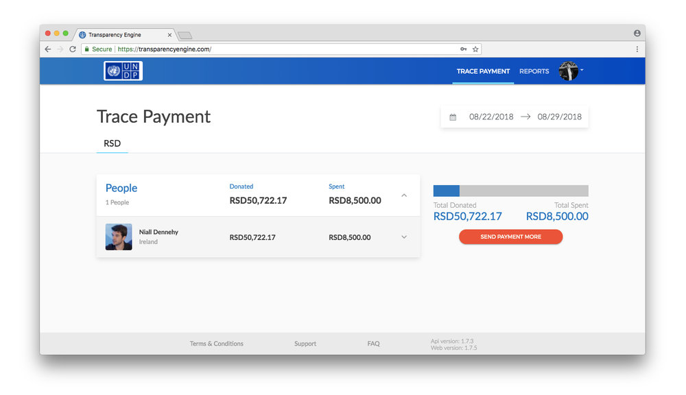 Trace your payments in one glance