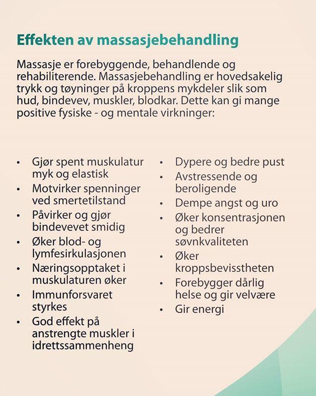 Mange gode grunner til å få massasje!