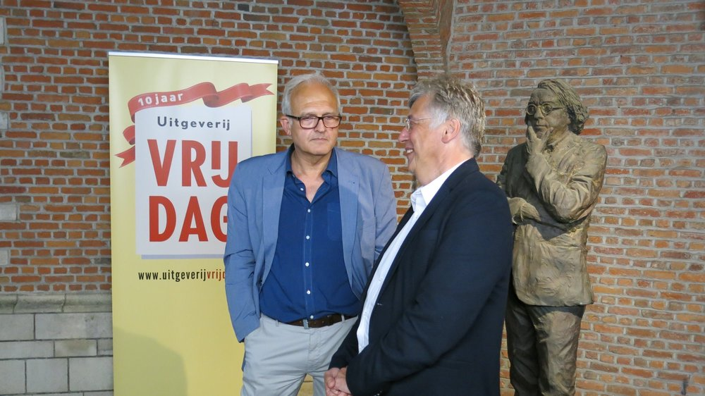 - With publisher, Antwerp, summer 2018.