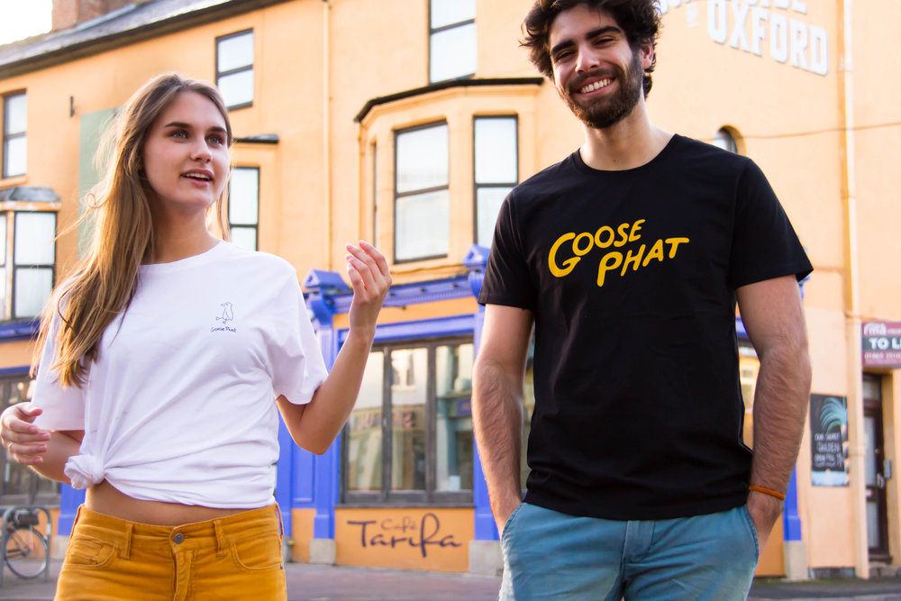 Here at PHASER we are delighted to reveal our collaboration with organic t-shirt brand, Goose Phat. You can find their tees and totes on ASOS Marketplace and Student High Street. Use our exclusive coupon code PHASER2018 to get 15% off anything from ASOS Marketplace in the next 10 days!  - DID SOMEONE SAY ORGANIC?