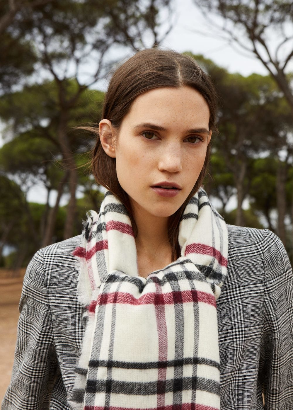 1. the plaid one - MANGO: Plaid Scarf, £19.99Layer this plaid scarf over a bright red coat, or channel Mango's suggestion of plaid-on-plaid.