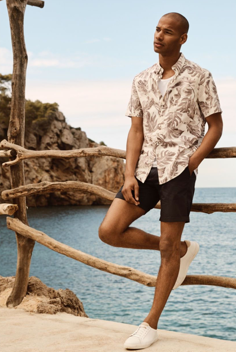 5. THE SHIRT - H&M: Cotton Shirt Regular Fit, £9.99Pair this printed shirt with a white cotton tee, and wear over dark shorts or trousers. H&M also has a tonne of different prints, and for under a tenner, you really can't go wrong!