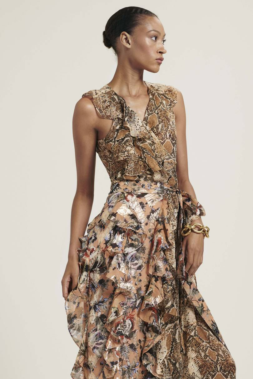 9. dianne von furstenberg - Snakeskin is already a big AW18 trend, and it's set to make a comeback in this gorgeous wrap dress from Dianne Von Furstenburg.