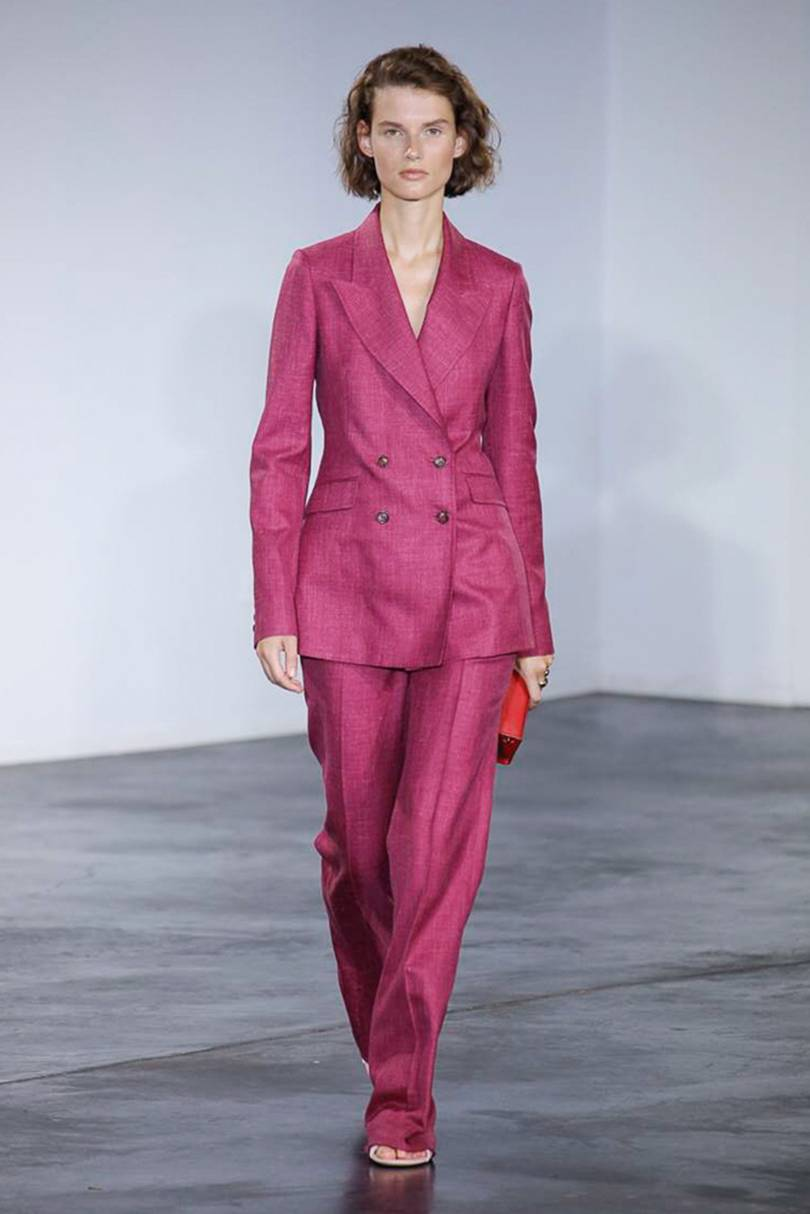 3. gabriela hearst - The pantsuit isn't going anywhere for SS19. Head's up: this vibrant pink is everywhere on the catwalks.
