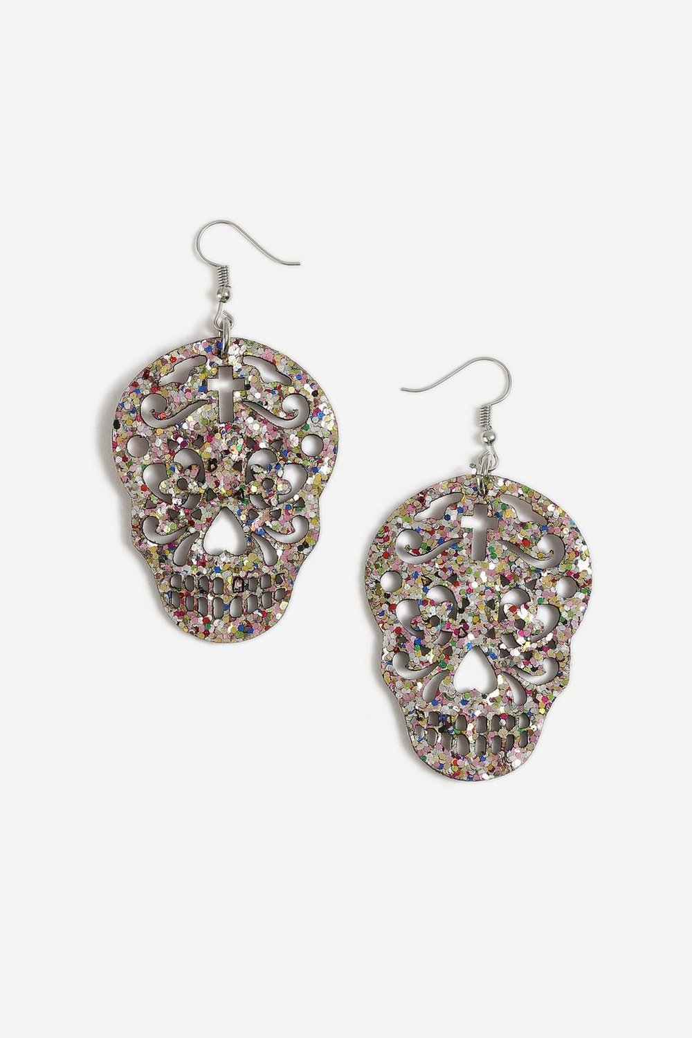 1. THE STATEMENT EARRINGS - Reds and blacks have a tendency to dominate Halloween costumes so use some jewellery to inject a bit of colour.Topshop £5