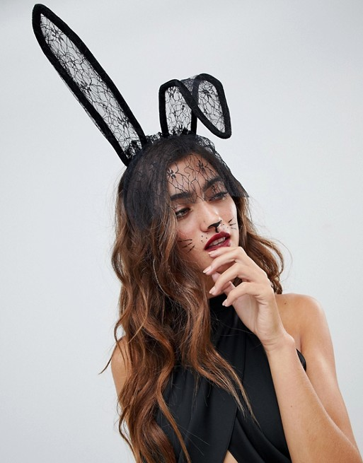 5. THE HEADBAND - Halloween would not be complete without some form of animal ears - this headband even comes with a veil to add an extra touch.ASOS £10