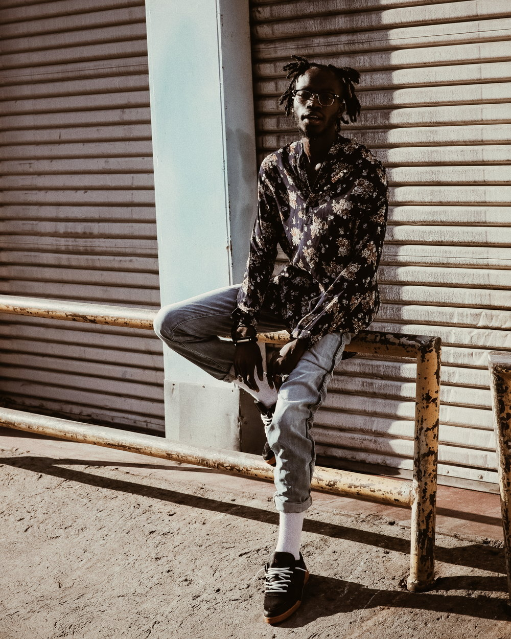 Styling by Ugo Mozie | Photograph by Justin Wu   Shirt - Faith Connexion, Jeans - Dior