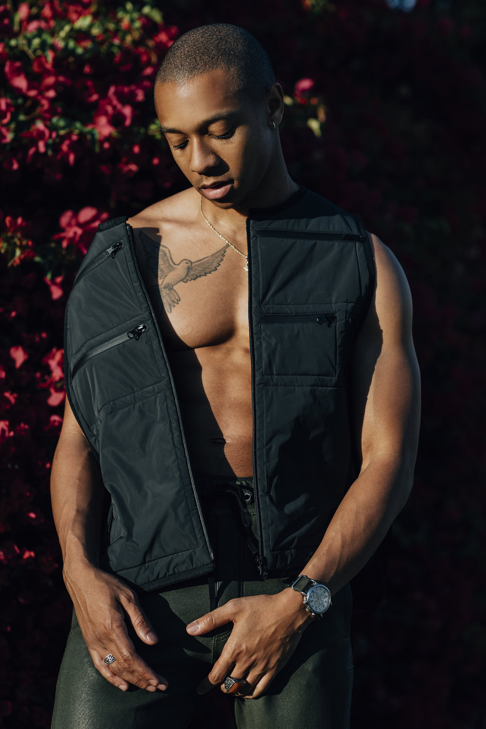Styling by Ugo Mozie | Photograph by Lloyd Pursall   Vest - Letasca, Trousers - Balmain