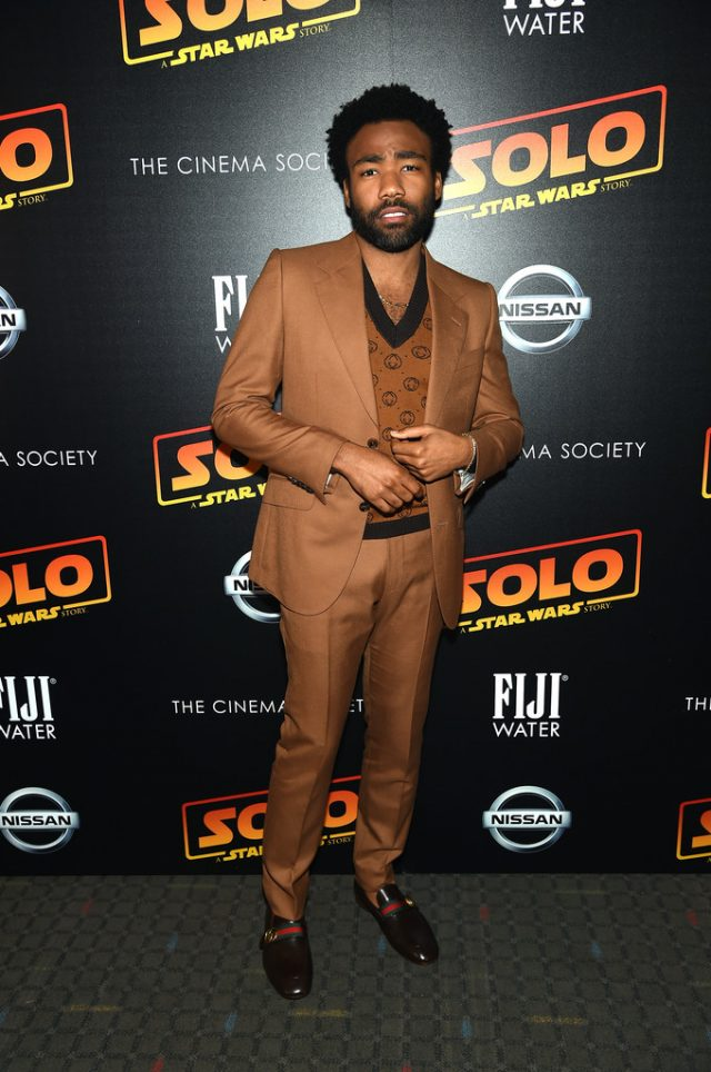 Wearing Gucci at the premiere of 'Solo: A Star Wars Story'   Image Credit