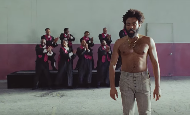 A still from the music of video of 'This is America   Image credit