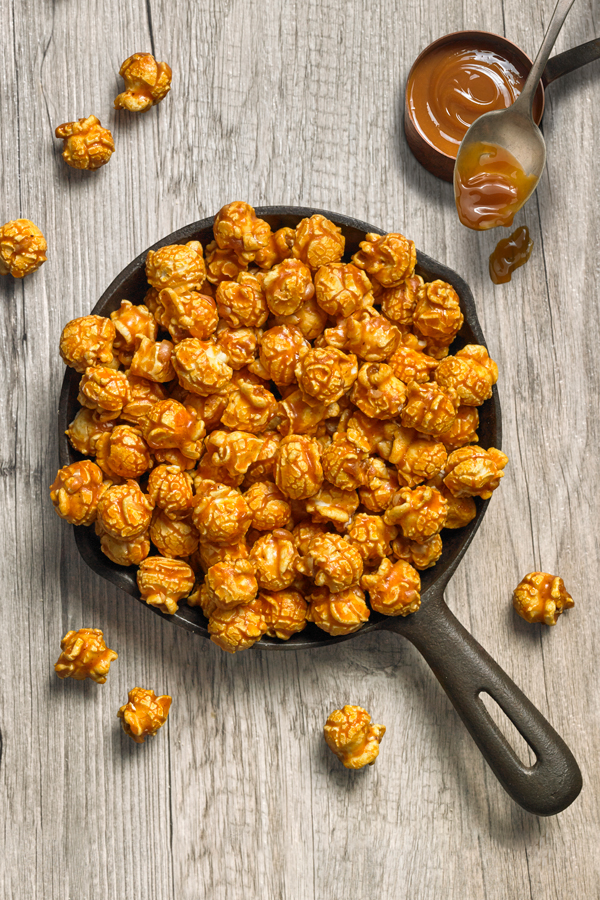 Caramel – #1 Seller - NET WT 10 OZ (284g)What could be more delicious than creamy, rich caramel on slightly salty popcorn! Real butter and vanilla bean give our caramel sauce a smooth texture and decadent flavor. One taste and it's easy to see why this is our best-selling popcorn.