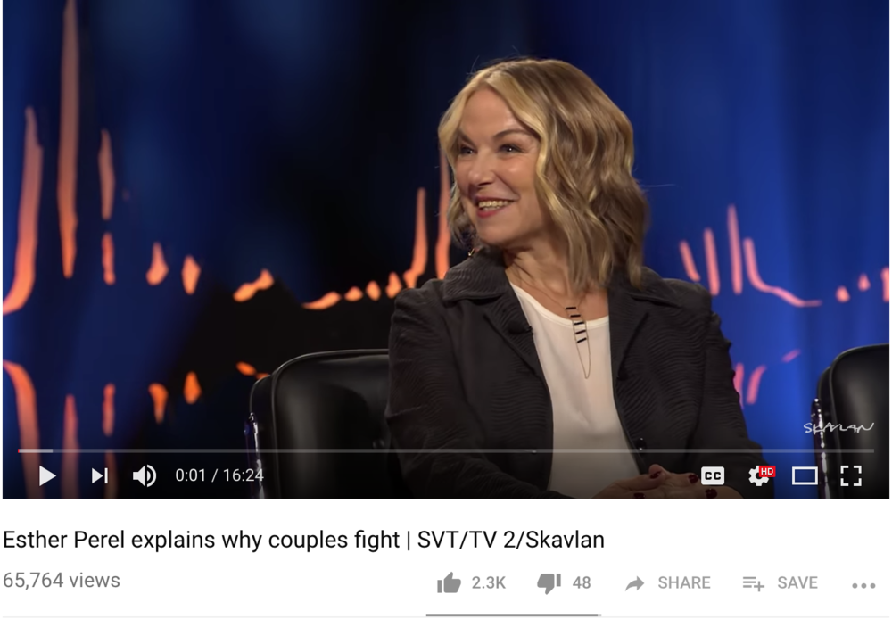 Esther Perel Explains Why Couples Fight