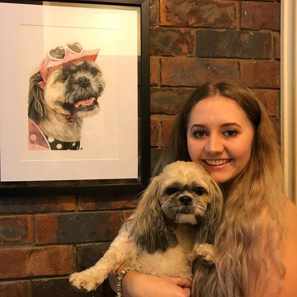 'Mia' Colour Pencil Pet Portrait, Australia, A3