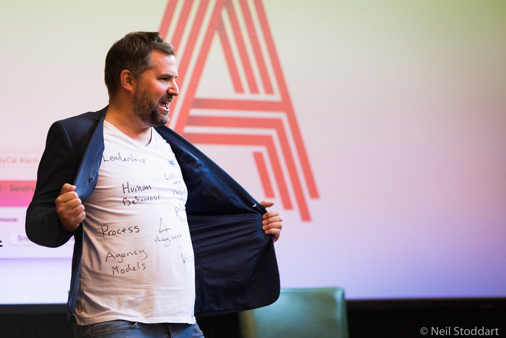 We invite the most interesting agency leaders along, so you can learn from their journeys so far. (Pic:  Lab 's Jonny Tooze.)