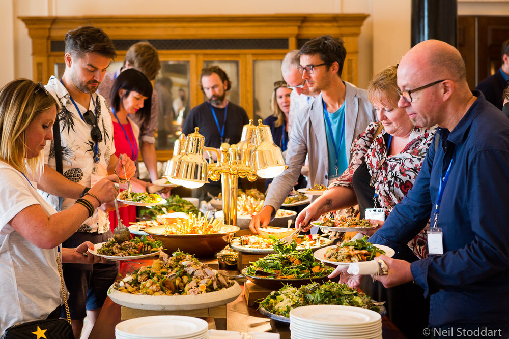 Amazing food!  We put a lot of thought into this. A lot of conferences don't care that much – but we make sure there's an amazing menu of gorgeous dishes to keep you energy up throughout the day.