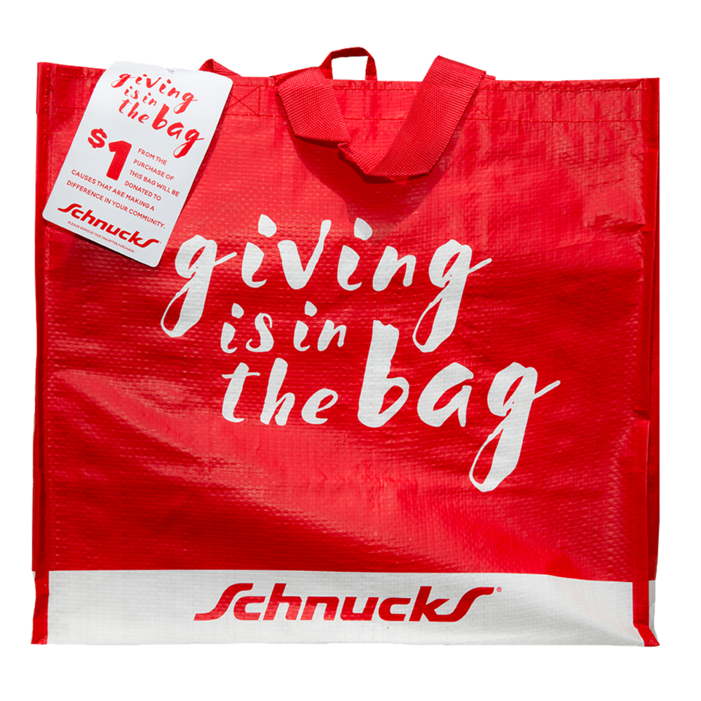 Purchase the Giving bag at the Schnucks on Centerway Drive in Peoria and $1 will be donated to the Sun Foundation.