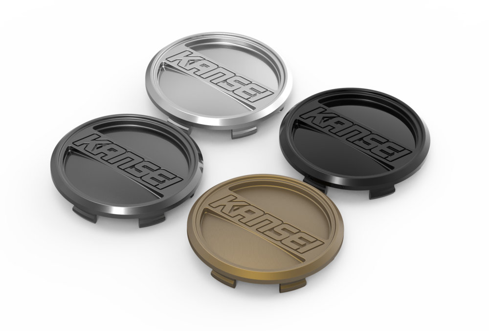 KANSEI LOW CAP - Flat and Flush, available in all 1PC wheel colors.
