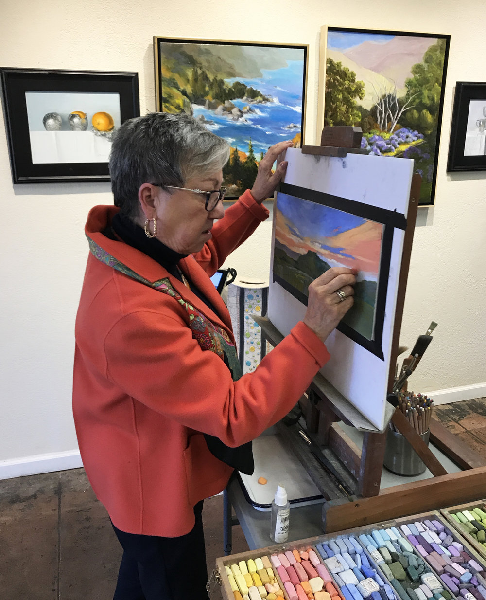 - We offer classes in both pastel and watercolor. The classes are usually 2 hours once a week. Students are responsible for bringing their own supplies.