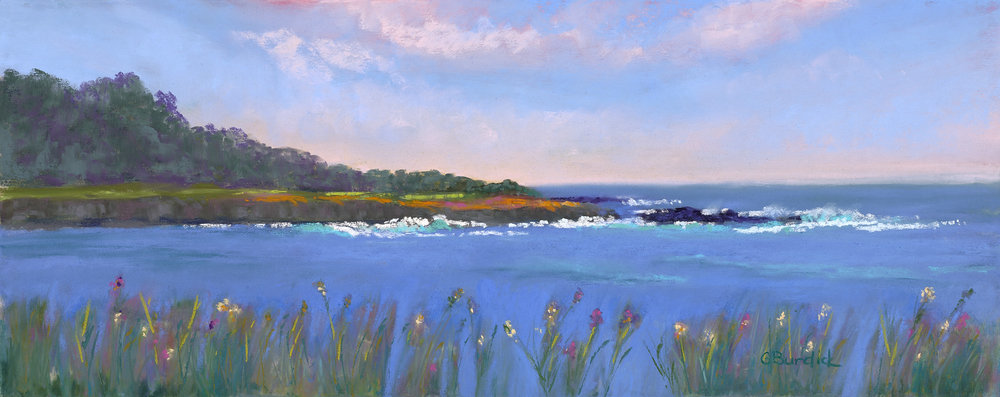 Across the Headlands - pastel