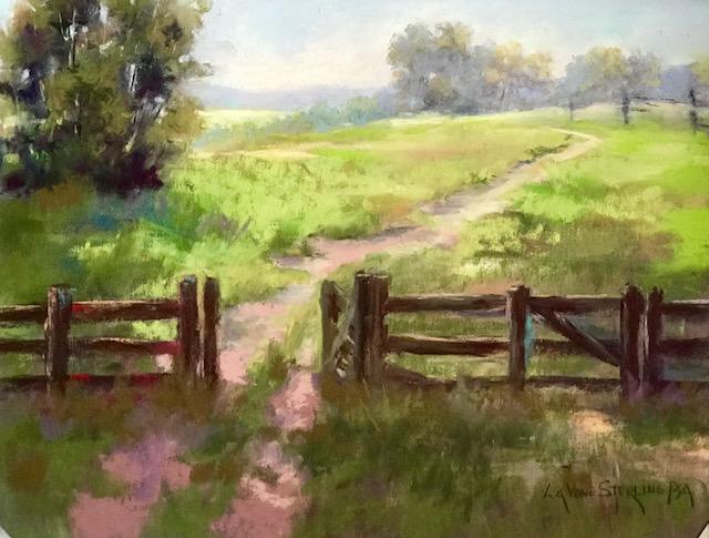 Greener Pastures - pastel