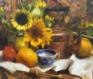 Alla primia oil focus on fall - Daniel Keys Alla Prima fall workshop.October 10-12, 2019$575