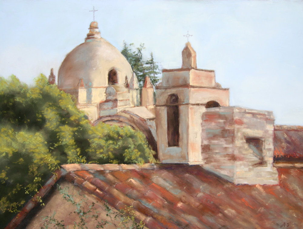 Above the Dome - pastel