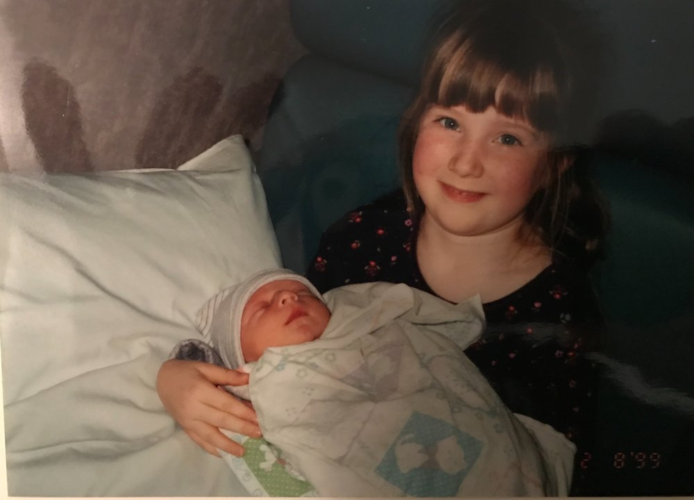 My first time meeting baby bro 19 years ago.