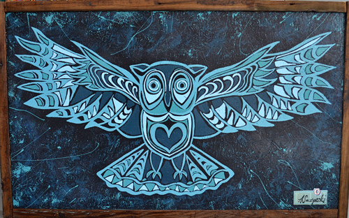 Wisdom Comes From the Heart | 51x32 inches