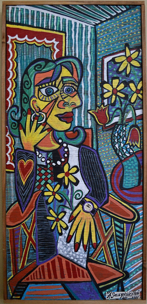 Dora Maar with Jewelry & Flowers | 23x49 inches