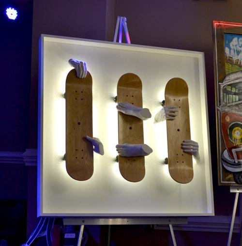 Stefan Daiberl's skateboard art