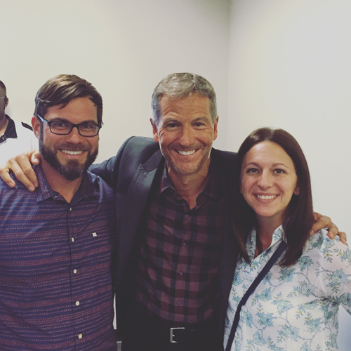 visiting with John Bevere