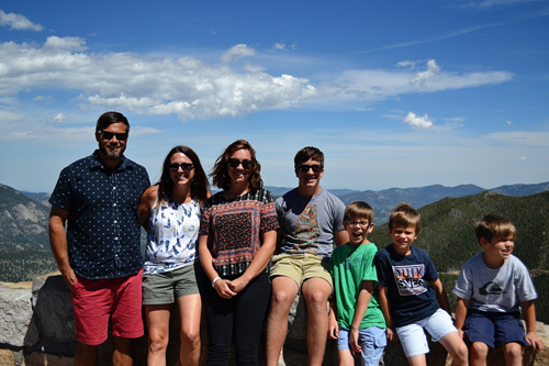 our family on Trail Ridge Road in Rocky Mountain National Park (rainbow curve overlook)