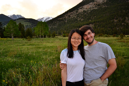 my brother Rich and his wife Ran Cui in Rocky Mountain National Park
