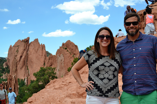 Garden of the Gods - Andy + me