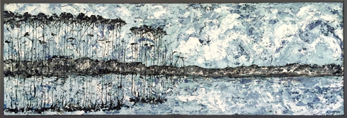 Springtime Blues | 73x26 inches | $1800
