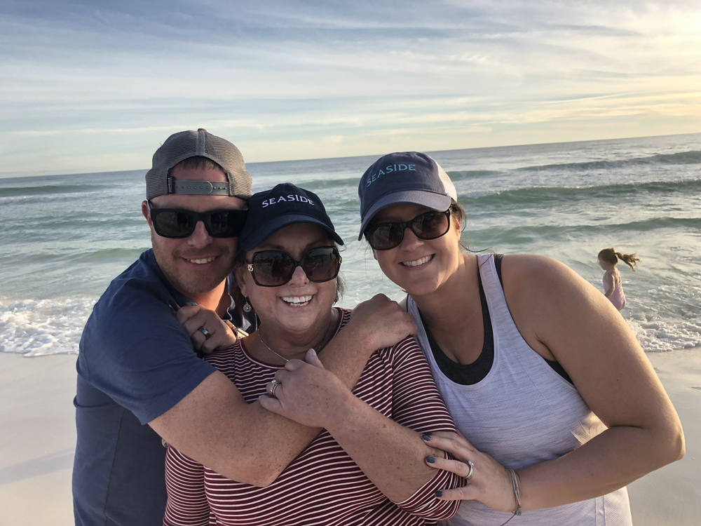 Blane with his mother and wife on the beautiful beaches of Seaside, FL