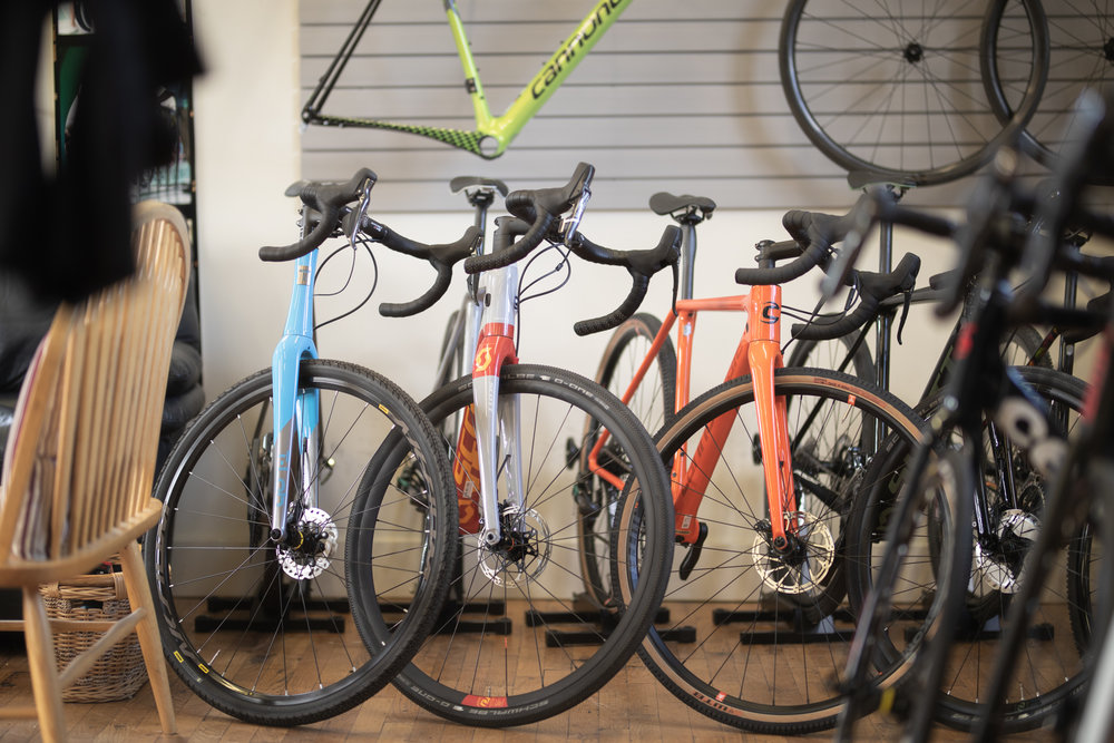 Some of the Gravel Bikes at  Drummond Cycles