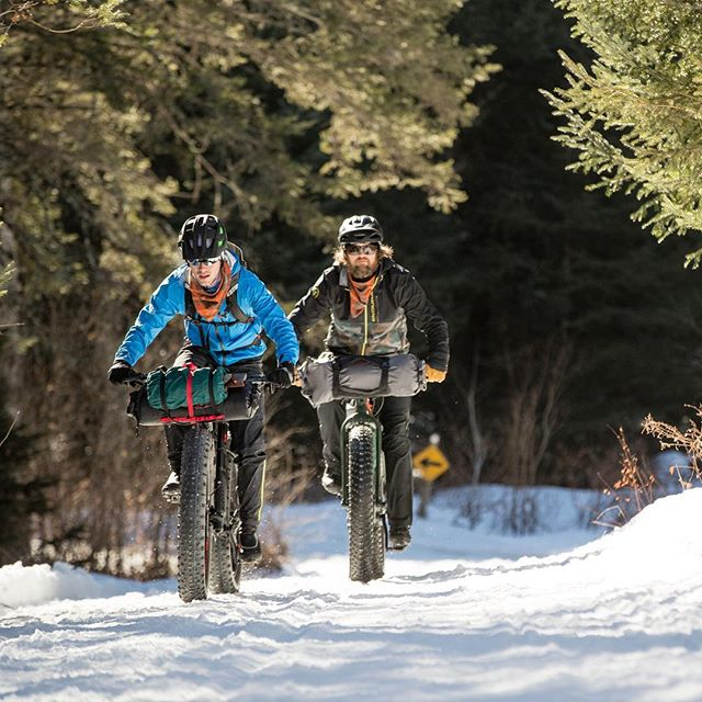 Who else is going to #WinterBike at @kingdomtrails on March 2nd? It's rumored to be hilariously epic with a side of bourbon 🥃. Looking forward to it! @mtbvermont  Stellar 📸 by @hammphoto #fatbike #Vermont #cycling #whereiride #roadslikethese #kingdomtrails #Vermonting #ridegravel #cyclingphotos #bikes #velo #welivetoexplore #winterriding #vtdirt #vermontgravel
