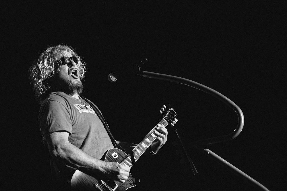 """Sammy Hagar teaching us that """"never"""" is a good time to give up your dreams. Image by Zan Passante"""