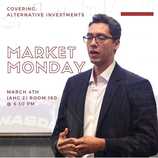 Join us this evening for our usual Market-Monday! Our director of Global Capital Markets, Helaman Zeron, and our director of Global Investment Research, Yoana Lorenzo, will cover alternative investments and will follow up on the topics hit last week while incorporating some of the big news headlines that arose this morning.  Don't miss out! 👩🏻‍💼📊👨🏻‍💼 . . . #fiubusiness #fiu22 #fiu20 #fiu21 #marketmondays #businessmotivation #collegelife #mondaymotivation #mondaymood #fiuhonors #fiutransfer #fiupanthers #fiu19 #businesswoman #businessman #goals #enterpreneur #entreprenuership #work #life #investing #leadership #business #success #miami #wearefiu #floridainternationaluniversity #morganstanley #nasdaq #investments
