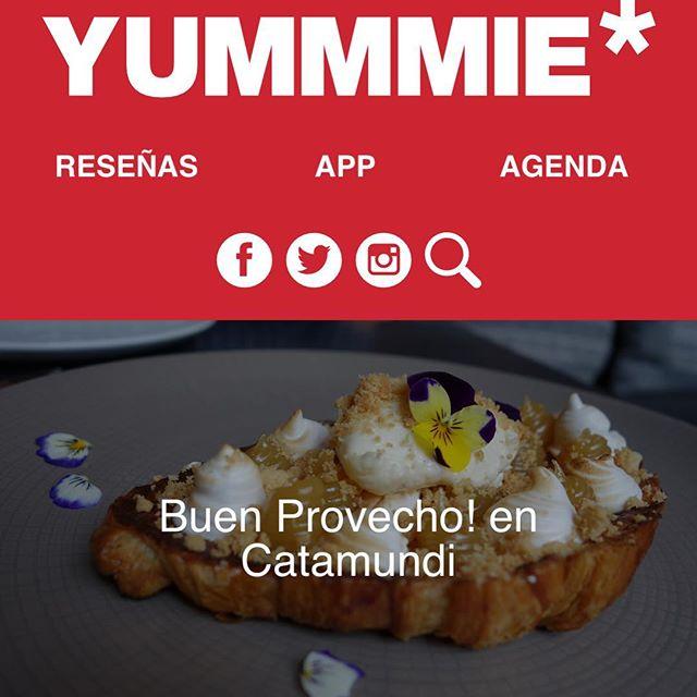 Nuestros amigos de @yummmie_app fueron a @catamundi a disfrutar @buenprovecho_cdmx. Link en bio 👆🏻Mañana se termina el restaurant week asegurate ir a probar uno de los mas de 70 restaurantes participantes.