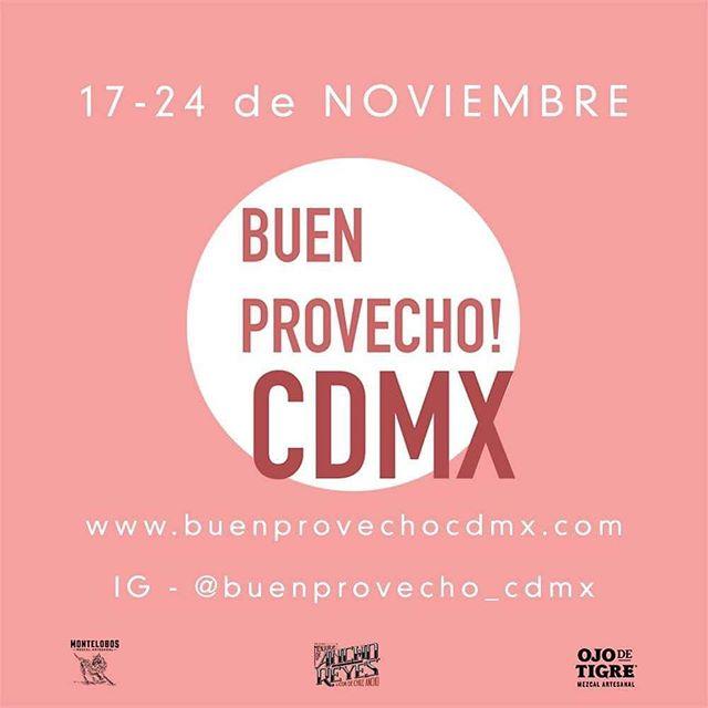 Sólo hoy y mañana. No te pierdas de @buenprovecho_cdmx. Más de 70 restaurantes con menus con descuento.