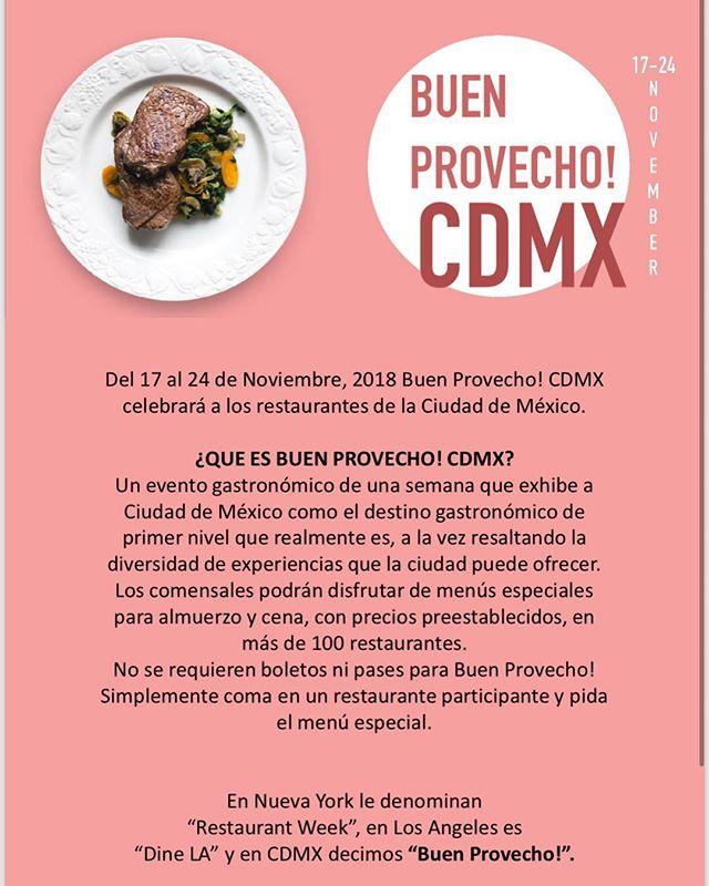 Hoy es el ultimo día de @buenprovecho_cdmx que será dos veces por año. Agradecemos a todos los restaurantes participantes, curadores y a toda la gente que fue a comer. GRACIAS! @aguaysaldf @amayamexico @hotelcasaawolly @belmondomx @bistrochapultepec @butcherandsons @cafe_milou @campobaja @candelaromeromx @laimperial @carnivoroasador @cascabel_cdmx @catamundi @cocina_abierta @grupohabita @creperiedelapaixcondesa @demaramar @stregismexicocity @restaurante_ellago @escollo_mx @grupoestoril.estoril @fatboymovesmx @fondafinamx @galangathaikitchen @gardelamx @hotelcarlotamx @kiinthaivietmx @izakaya_kura @labodega_condesa @lasabina255 @latrainera @la_xampa_oficial @laperomexico @loupwinebar @macelleriaroma @maisonmx @marketkitchencdmx @mercadoroma @mrcoyoacan @miadomenicca @mythosmx @nosorestaurante @palmaresazotea @patanegra_mx @porcorossobbq @primoscondesa @pubbellysushimx @puntarena_mx @quqoobar @cantinalariviera @roccoysimona_polanco @elromabistrot @salaciacondesa @spuntinomx @sushiittomx @suuwaymx @terrazachachacha @thedoghousemx @torinomx @torosantafemx @villamariamx @yubanromaoficial @zanayamx @michelleonbell @drsalsamx @gastrogrammx @gastronautadf @cazadordelomejor @conantojomx