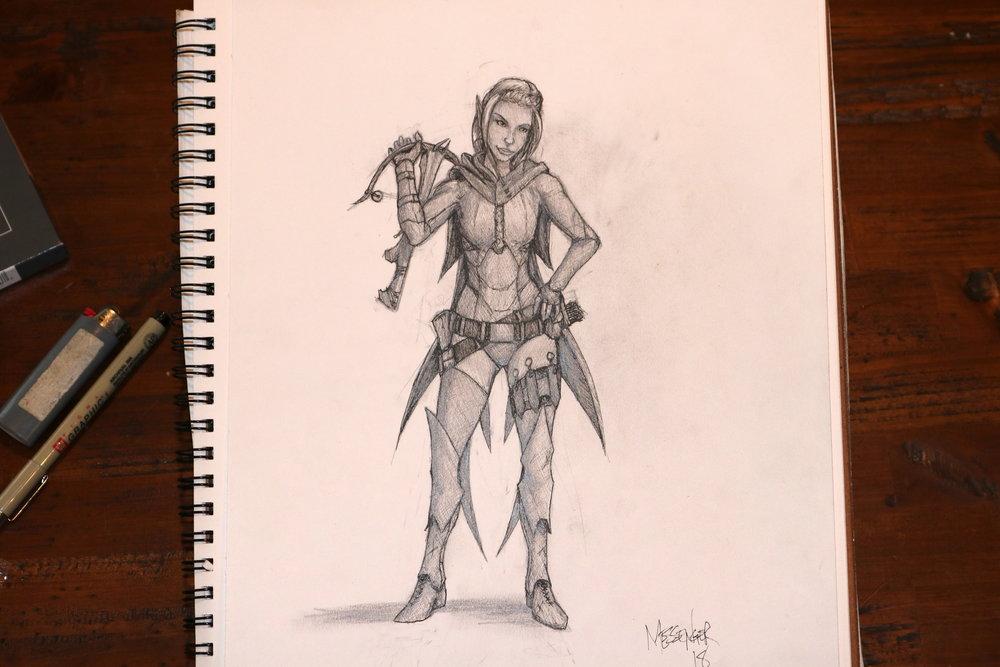 Vanya- the half-drow assassin