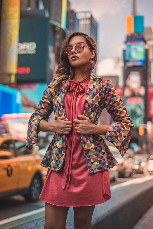 Time Square Fashion Blogger New York  @caroseditorial